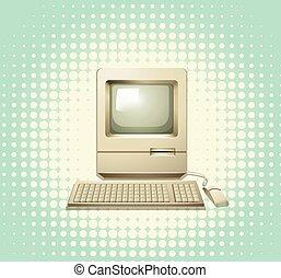 ordinateur clavier, moniteur, retro