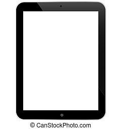 ordinateur pc, écran blanc, tablette