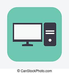 ordinateur personnel, icône