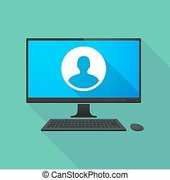 ordinateur personnel, mâle, avatar