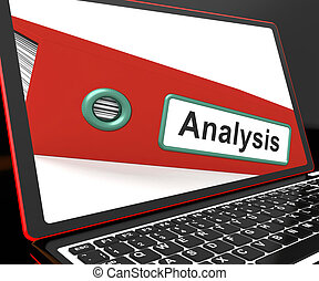 ordinateur portable, analyse, fichier, analysé, données, ...