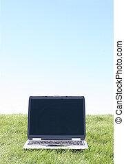 ordinateur portable, assied