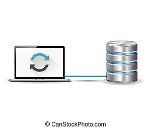 ordinateur portable, base données