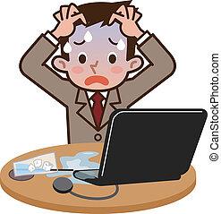 ordinateur portable, boisson, accident