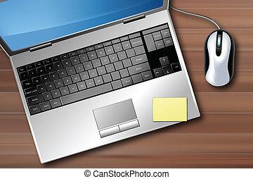 ordinateur portable, bureau