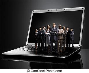 ordinateur portable,  Business, équipe