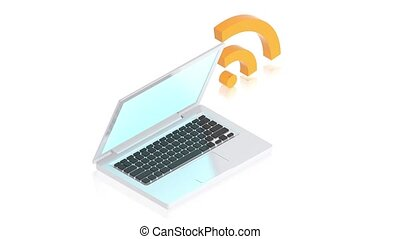 ordinateur portable, connectet, internset
