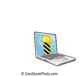 ordinateur portable, construction, sous