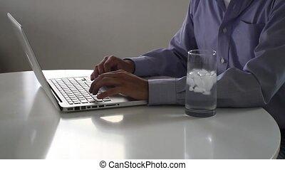 ordinateur portable, dactylographie, keyboard.