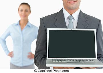 ordinateur portable, equipe affaires