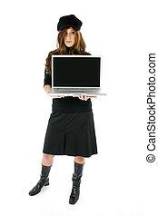 ordinateur portable, femme