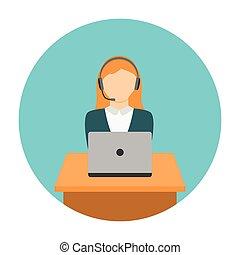 ordinateur portable, femme, fonctionnement