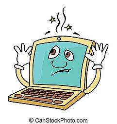 ordinateur portable, fracas