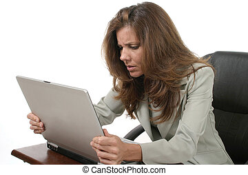 ordinateur portable, frustrer, 4