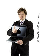 ordinateur portable, homme