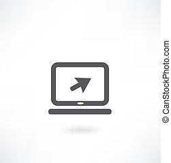 ordinateur portable, icône