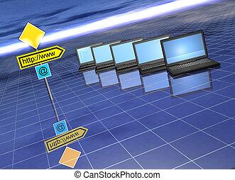 ordinateur portable, internet