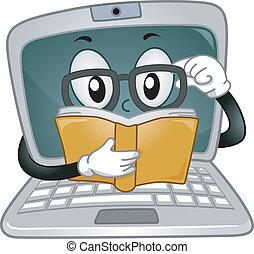 ordinateur portable, mascotte
