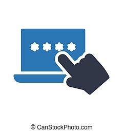 ordinateur portable, mot passe