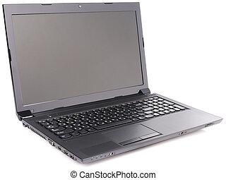 ordinateur portable, sur, blanc