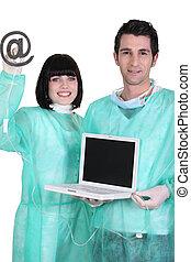 ordinateur portable, théâtre opération
