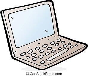 ordinateur portatif, dessin animé