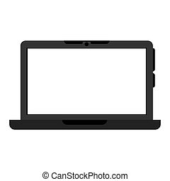 ordinateur portatif, portable, icône