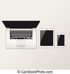 ordinateur portatif, smartphon, tablette, &