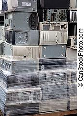 ordinateurs, empilé