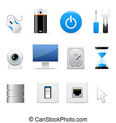 ordinateurs, icônes