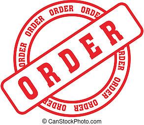 ordine, parola, francobollo
