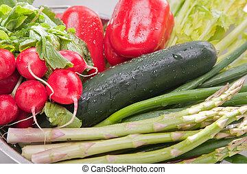ordning, i, grønsager