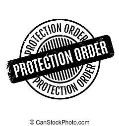 ordre, timbre, caoutchouc, protection
