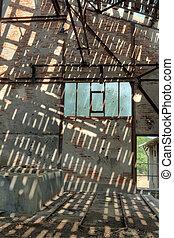 Old abandoned mining factory unit processing lead-zinc
