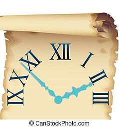 ore, quadrante, carta, papyrian