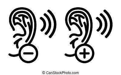 orecchio, illustrazione, vettore