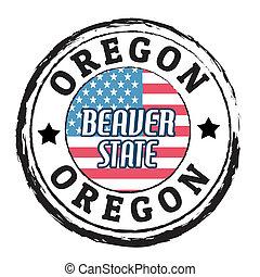 Oregon, Beaver State stamp