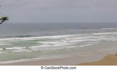 Oregon Canon Beach 560 - Time lapse of oregon's gloomy grey...