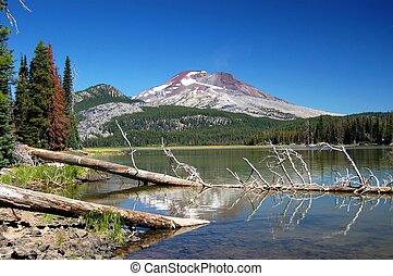 Oregon Cascades - Mountain in Oregon reflecting at the...