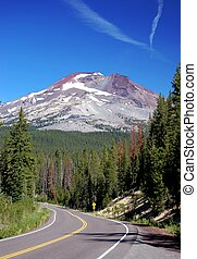 Oregon Cascades - Winding through roads in the cascades of...