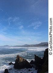 Oregon Coast Blue Sky Landscape
