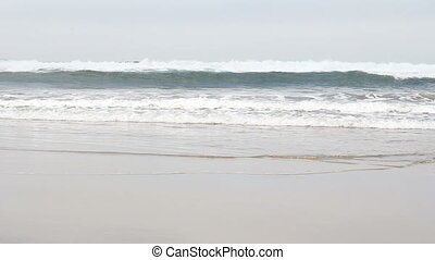 Oregon Coast Ocean Waves - Ocean waves breaking off the...