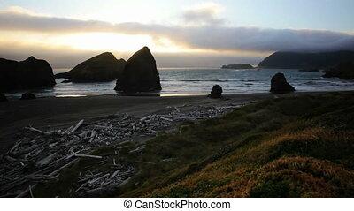 Oregon Coast Sunset, time lapse