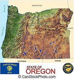 Oregon Counties map