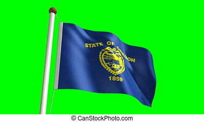 Oregon flag (with green screen)