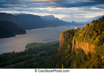 Oregon landscape - Crown Point overlooking the Columbia River and the Gorge