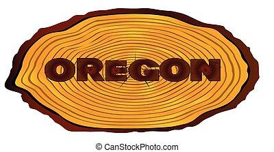 Oregon Log Sign