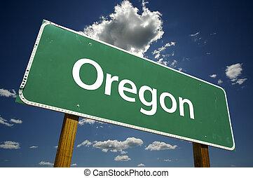 Oregon Road Sign