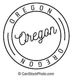 oregon stamp on white