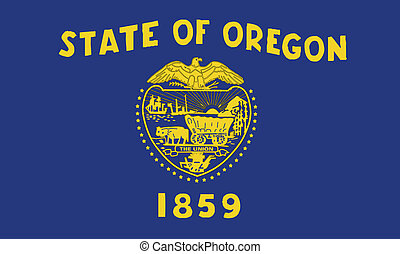 An illustration of the state of Oregon state flag